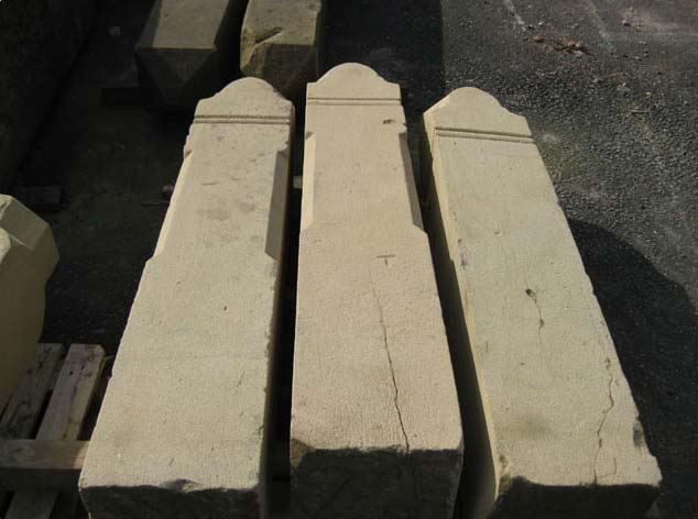 Sandblasted Reclaimed Stone Gate Posts