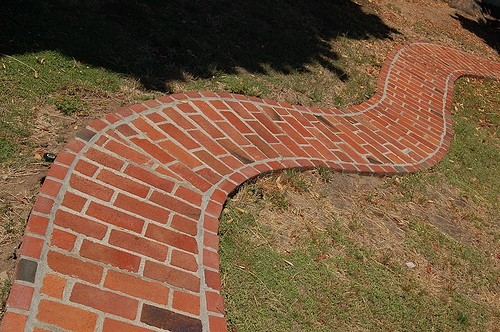 Reclaimed Brick Garden Path