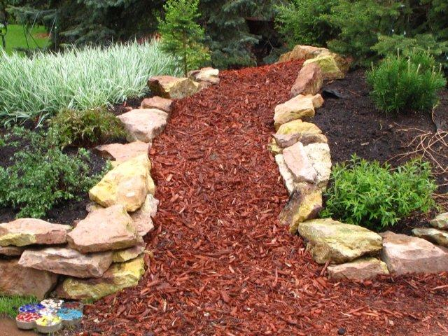 chip bark garden path