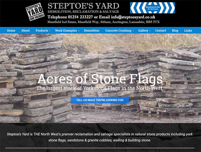 Steptoes Yard New Website