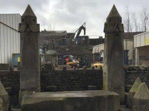 stone gothic gate posts